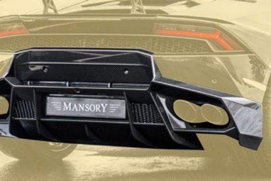 Designed diffuser for original car rear hatch panel (EU version)